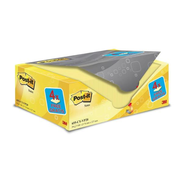 POST IT VALUE PACK 20 POST IT GIALLO 76X127 81564